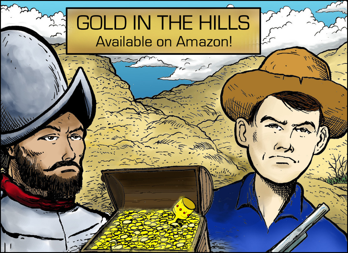 Gold in the Hills is my most recent colaboration with Andy Watson. It is an historical book about legendary gold hunters who have searched the Wichita Mountains of Oklahoma for gold through the ages, including folks like Coronado. Jesse James is also rumored to have hidden away his treasure in the hills. Click this link to be directed to the Amazon page where you can order it