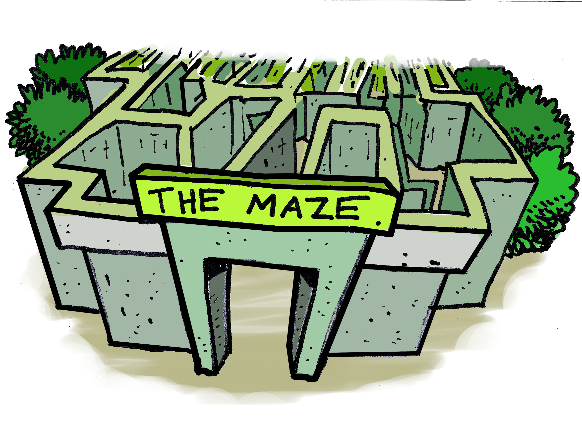 the mysterious, spooky, and likely unfinished maze